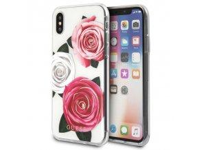 Ochranný kryt pro iPhone X - Guess, Flower Desire
