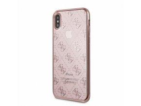 Ochranný kryt pro iPhone X - Guess, 4G TPU RoseGold