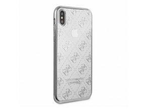 Ochranný kryt pro iPhone X - Guess, 4G TPU Silver