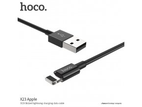 Kabel lightning pro iPhone a iPad - Hoco, X23 Skilled Black