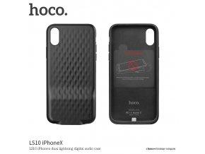 Ochranný kryt pro iPhone X - HOCO, LS10 iPhonex (rozdvojka Lightning)