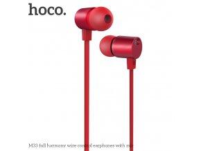 Sluchátka pro iPhone a iPad - HOCO, M33 FullHarmony Red