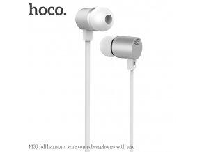 Sluchátka pro iPhone a iPad - HOCO, M33 FullHarmony Silver