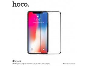 Ochranné tvrzené sklo pro iPhone XS / X - Hoco, A1 Shatterproof 3D Black