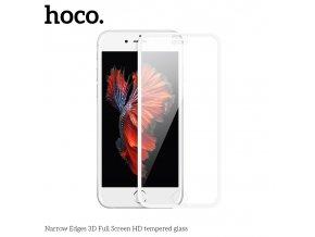 Ochranné tvrzené sklo na iPhone 8 / 7 / 6S / 6 - Hoco, A11 NarrowEdges 3D White