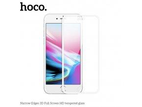Ochranné tvrzené sklo pro iPhone 8 PLUS / 7 PLUS / 6S PLUS / 6 PLUS - HOCO, A11 NarrowEdges 3D White