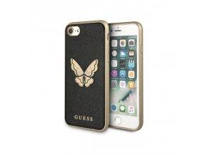 Ochranný kryt pro iPhone 8 / 7 / 6s / 6 - Guess, Saffiano Butterfly Black