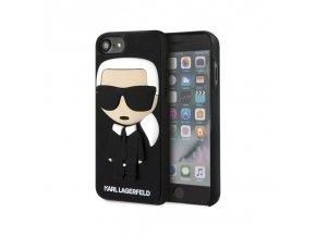 Ochranný kryt pro iPhone 8 / 7 / 6s / 6- Karl Lagerfeld, Karl Body Black