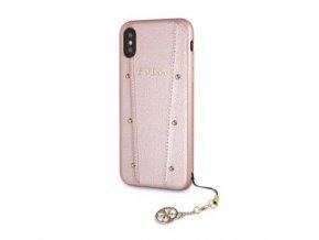 Ochranný kryt pro iPhone XS / X - Guess, Kaia Back RoseGold