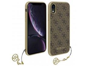 Ochranný kryt pro iPhone XR - Guess, Charms 4G Back Brown