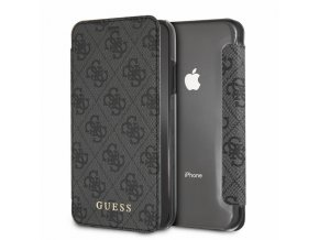 Pouzdro / kryt pro iPhone XR - Guess, Charms 4G Book Grey