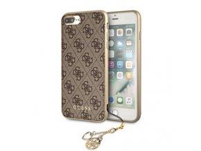 Ochranný kryt pro iPhone 8 PLUS / 7 PLUS / 6S PLUS / 6 PLUS - Guess, Charms 4G Back Brown