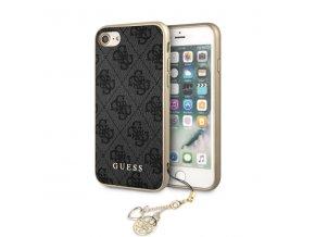 Ochranný kryt pro iPhone 7 / 8 - Guess, Charms 4G Back Grey