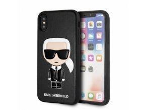 Ochranný kryt pro iPhone XS / X - Karl Lagerfeld, Ikonik Black