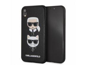 Ochranný kryt pro iPhone XR - Karl Lagerfeld, Choupette Back Black