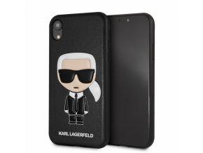 Ochranný kryt pro iPhone XR - Karl Lagerfeld, Ikonik Black Back