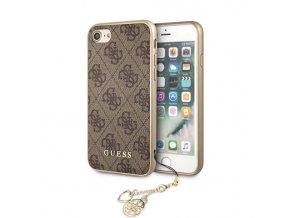 Ochranný kryt pro iPhone 7 / 8 - Guess, Charms 4G Back Brown