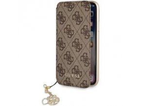 Pouzdro / kryt pro iPhone 7 PLUS / 8 PLUS - Guess, Charms 4G Book Brown
