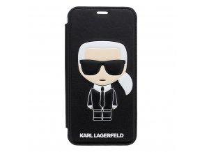 Ochranný kryt / pouzdro pro iPhone XS / X - Karl Lagerfeld, Ikonik Black Book