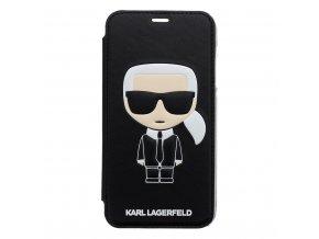 Ochranný kryt / pouzdro pro iPhone XR - Karl Lagerfeld, Ikonik Black Book