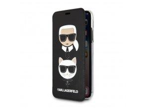 Ochranný kryt / pouzdro pro iPhone XS MAX - Karl Lagerfeld, Choupette Book Black