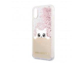 Ochranný kryt pro iPhone XR - Karl Lagerfeld, Peek and Boo Pink