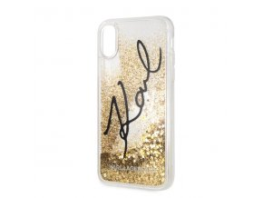 Ochranný kryt pro iPhone XR - Karl Lagerfeld, Signature Gold