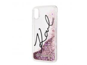 Ochranný kryt pro iPhone XS MAX - Karl Lagerfeld, Signature Pink