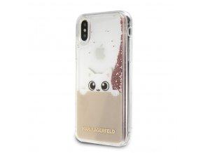 Ochranný kryt pro iPhone XS MAX - Karl Lagerfeld, Peek a Boo Pink