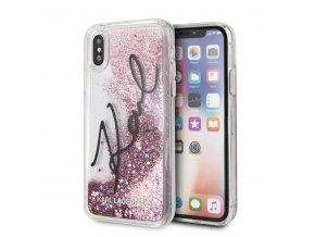 Ochranný kryt pro iPhone XS / X - Karl Lagerfeld, Signature Pink