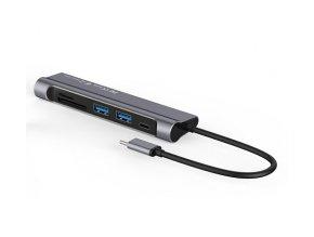 Redukce / adaptér USB-C - Comma, Clian 6in1