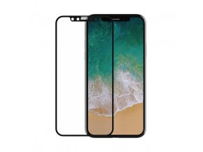 Ochranné tvrzené sklo pro iPhone XS / X - Devia, Real 3D Black