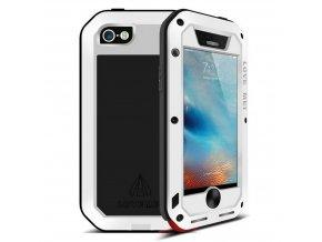 Ochranný kryt pro iPhone 5 / 5S / SE - LOVE MEI, POWERFUL WHITE