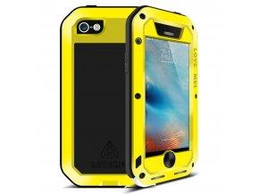 Ochranný kryt pro iPhone 5 / 5S / SE - LOVE MEI, POWERFUL YELLOW