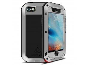 Ochranný kryt pro iPhone 5 / 5S / SE - LOVE MEI, POWERFUL SILVER