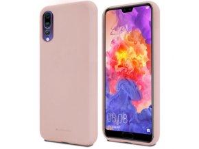 Pouzdro / kryt pro Huawei P20 PRO - Mercury, Soft Feeling Pink Sand