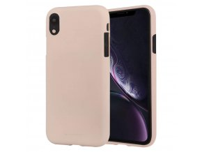 Ochranný kryt pro iPhone XR - Mercury, Soft Feeling Pink Sand