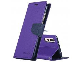 Pouzdro / kryt pro Huawei P20 PRO - Mercury, Fancy Diary Purple/Navy
