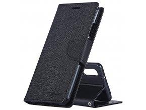 Pouzdro / kryt pro Huawei P20 - Mercury, Fancy Diary Black/Black
