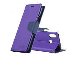 Pouzdro / kryt pro Huawei P20 - Mercury, Fancy Diary Purple/Navy