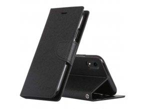 Pouzdro / kryt pro iPhone XR - Mercury, Fancy Diary Black/Black