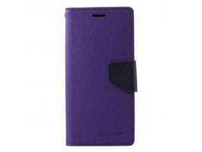 Pouzdro / kryt pro Samsung GALAXY A6 (2018) A600F - Mercury, Fancy Diary Purple/Navy