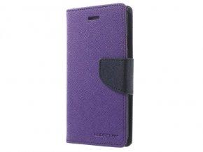 Pouzdro / kryt pro Huawei P20 LITE - Mercury, Fancy Diary Purple/Navy