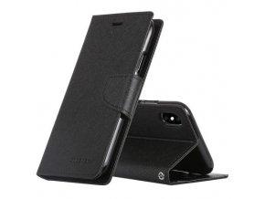 Pouzdro / kryt pro iPhone XS MAX - Mercury, Fancy Diary Black/Black