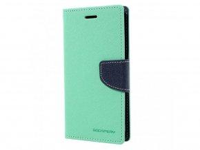 Pouzdro / kryt pro iPhone XS MAX - Mercury, Fancy Diary Mint/Navy