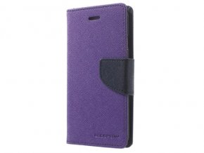Pouzdro / kryt pro iPhone XS MAX - Mercury, Fancy Diary Purple/Navy
