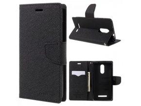 Ochranný kryt pro Xiaomi Redmi 6 - Mercury, Fancy Diary Black/Black