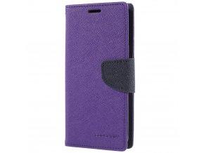 Pouzdro / kryt pro Samsung Galaxy S9 - Mercury, Fancy Diary Purple/Navy