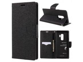 Pouzdro / kryt pro Samsung Galaxy S9 PLUS - Mercury, Fancy Diary Black/Black