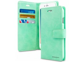 Pouzdro / kryt pro iPhone 7 Plus / 8 Plus - Mercury, Bluemoon Diary Mint